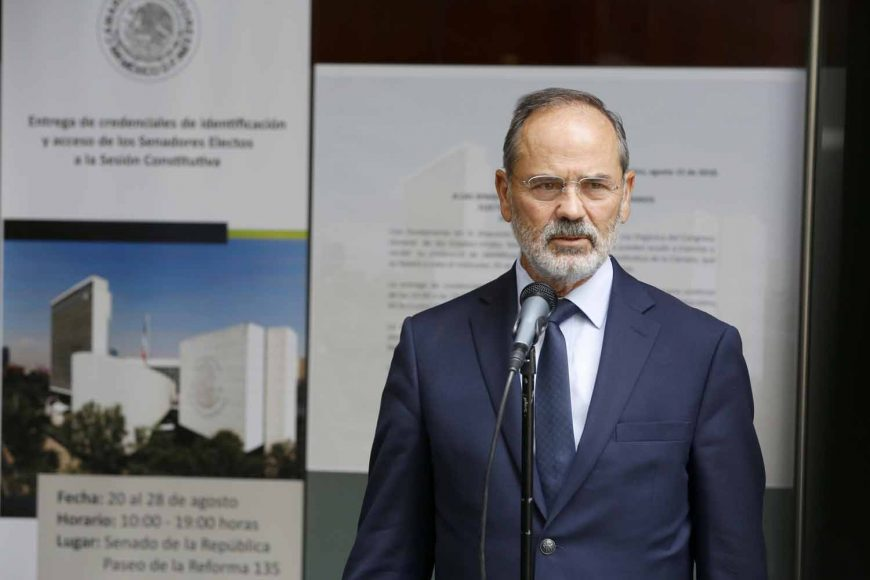 senador electo, Gustavo Enrique Madero Muñoz