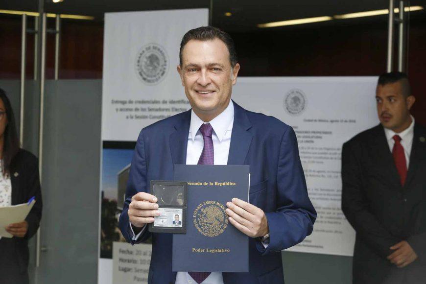 Senador electo, Mauricio Kuri González,