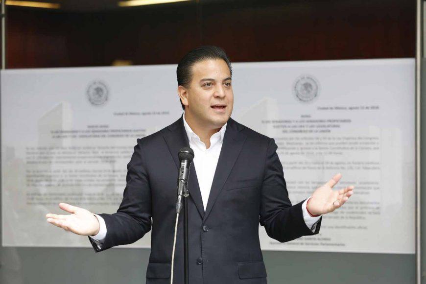 Senador electo, Damián Zepeda Vidales, registro
