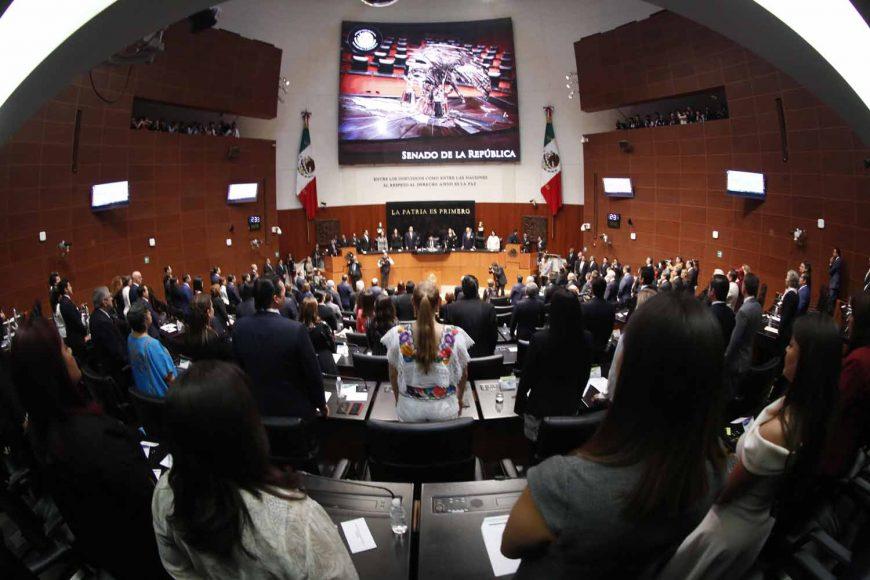 Instalación de la sesión constitutiva de la Cámara de Senadores