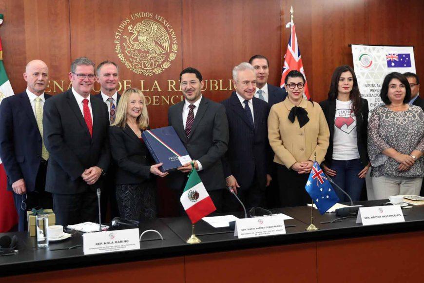 Senador Rafael Moreno Valle Rosas, delegación del parlamento australiano