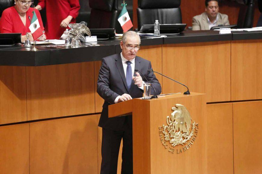 Senador Julen Rementeria Del Puerto, exhorta al Presidente electo, AMLO, a respetar el pacto federal