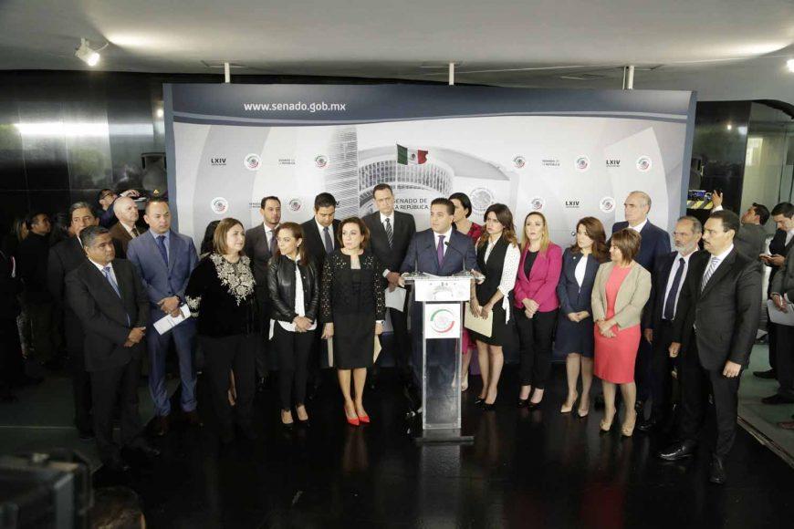 Senador Damián Zepeda Vidales, Declaración del 3 de 3, Senadores del PAN en conferencia