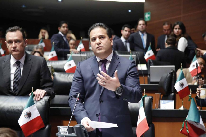 Senador Damián Zepeda Vidales, Manifiestan senadores del PAN extrañamiento por dichos y actitud del Presidente de la Mesa Directiva