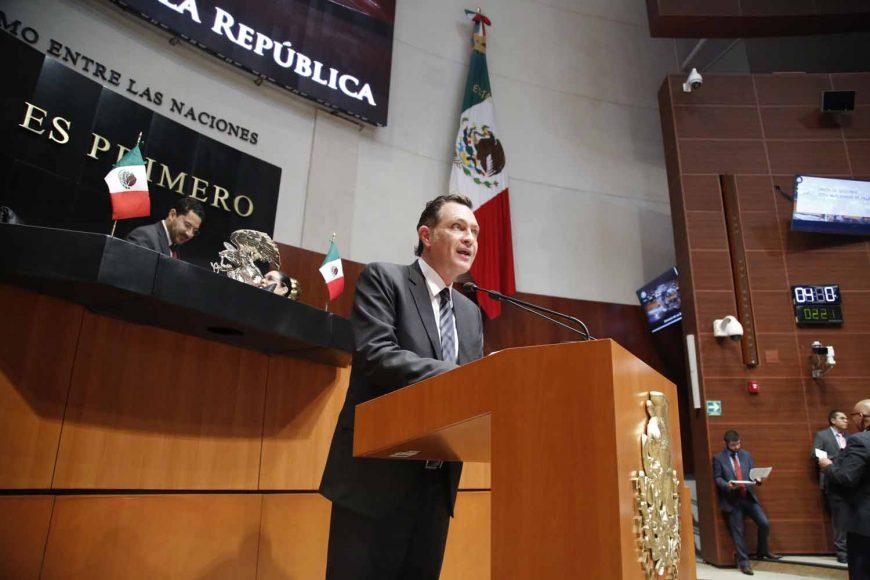 Senador Mauricio Kuri González presenta un punto de acuerdo sobre resolución del TEPJF en elecciones de Querétaro y Huimilpan