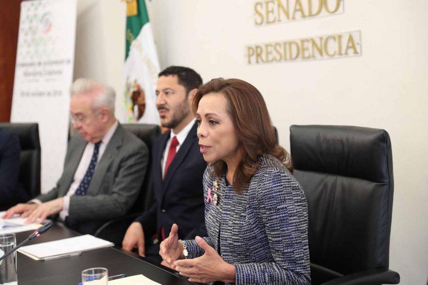 Senadora Josefina Vázquez Mota, durante la instalación de la Comisión de Relaciones Exteriores