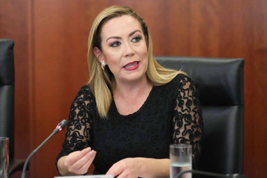 Senadora Alejandra Noemí Reynoso Sánchez, durante la instalación de la Comisión de Relaciones Exteriores