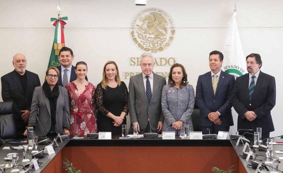 Senadora Alejandra Noemí Reynoso Sánchez, Senadora Josefina Vázquez Mota, durante la instalación de la Comisión de Relaciones Exteriores