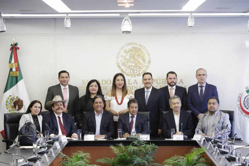 Comisión de Comunicaciones y Transportes, Juan Antonio Martín del Campo, secretario, y los integrantes Marco Antonio Gama Basarte y Julen Rementeria Del Puerto