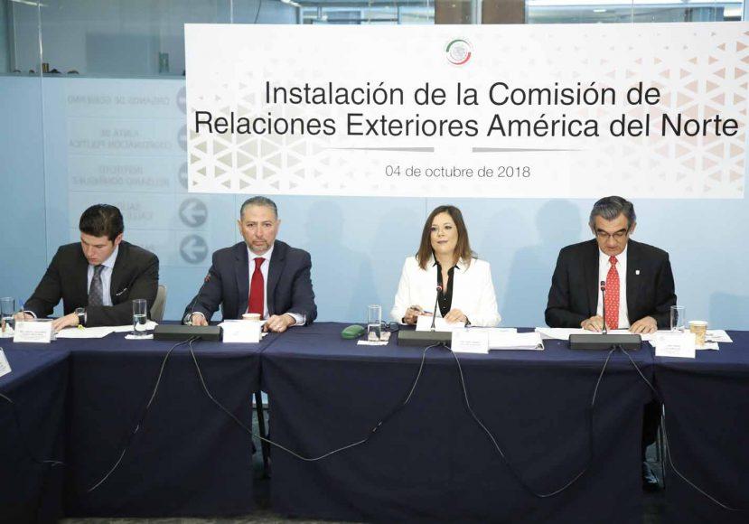 Instalación de la Comisión de de Relaciones Exteriores América del Norte, Gina Andrea Cruz, Nadia Navarro Acedo