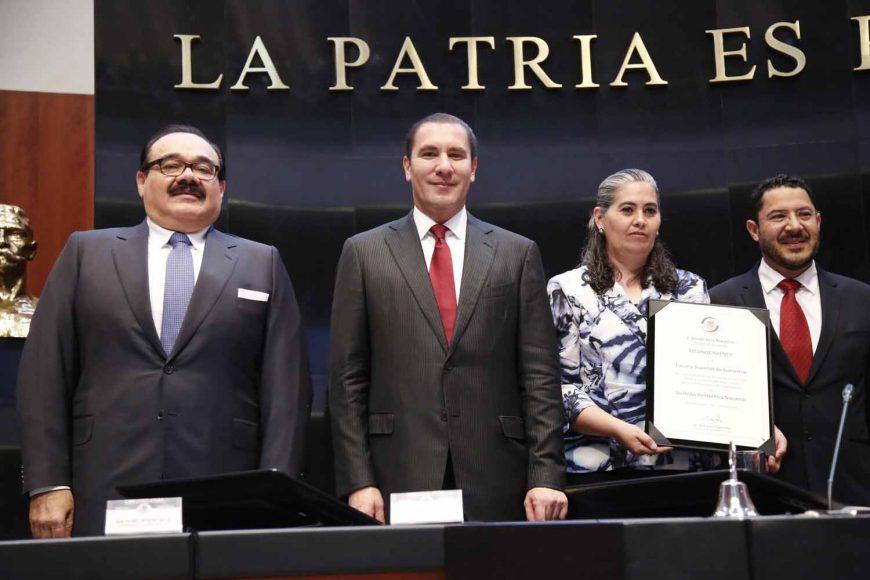 Reconocimiento al IPN, senadoras Xóchitl Gálvez Ruiz, Josefina Vázquez Mota, senador Rafael Moreno Valle Rosas