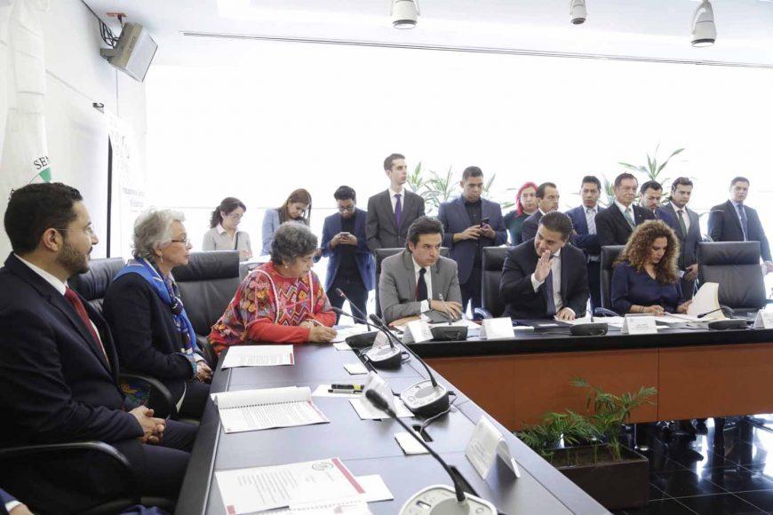 Nadia Navarro Acevedo, Damián Zepeda Vidales,Reunión de Instalación de la Comisión de Gobernación