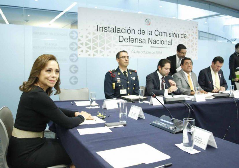Kenia López Rabadán, Josefina Vázquez Mota, Ismael García Cabeza de Vaca, Instalación de la Comisión de Defensa Nacional
