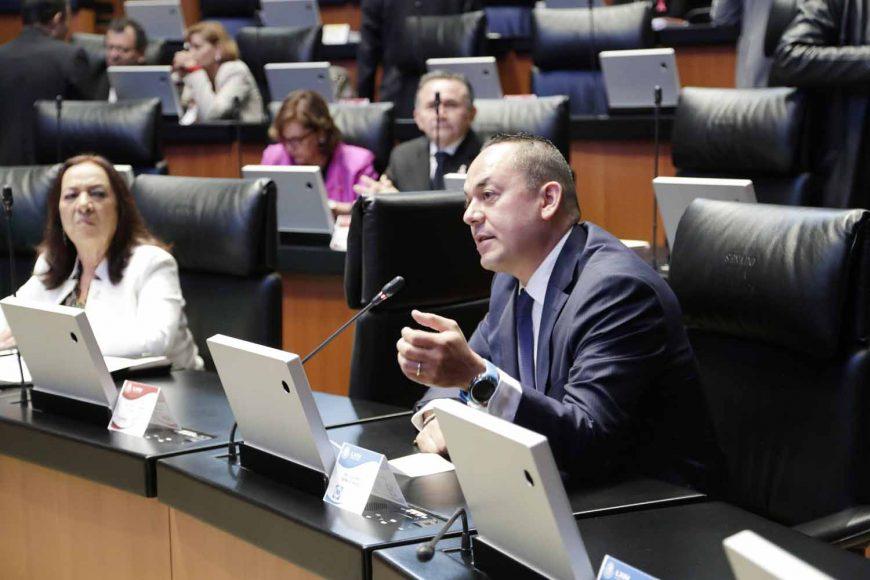 Senador José Erandi Bermúdez Méndez, al intervenir desde su escaño