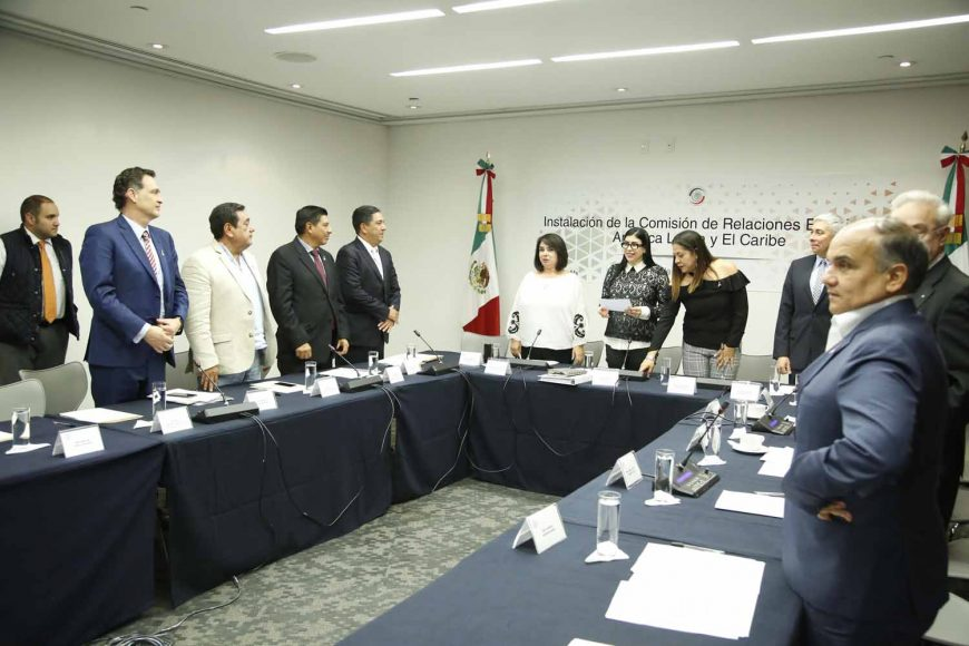 Mauricio Kuri González, Marco Antonio Gama Basarte, Gustavo Madero Muñoz, Instalación Comisión de Relaciones Exteriores América Latina y el Caribe