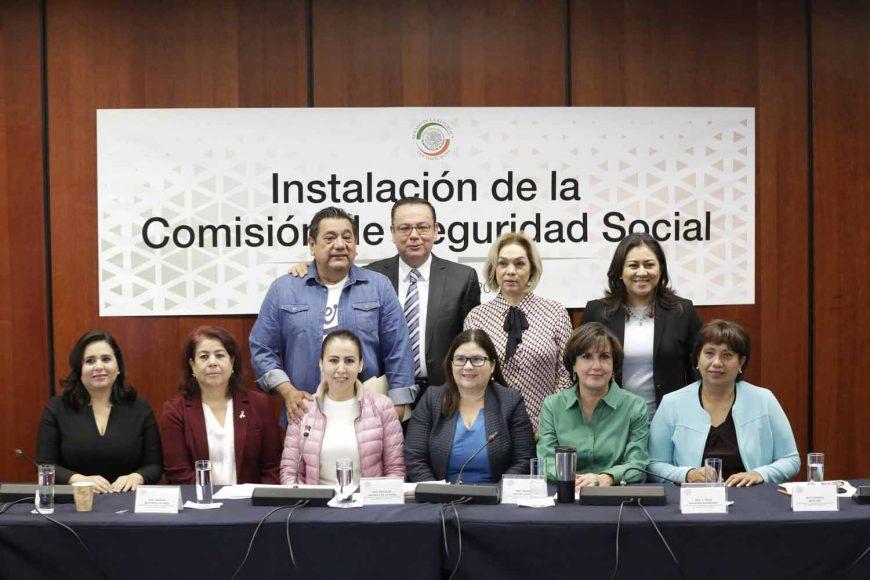 Instalación de la Comisión de Seguridad Social, Mayuli Latifa Martínez Simón, Nadia Navarro Acevedo