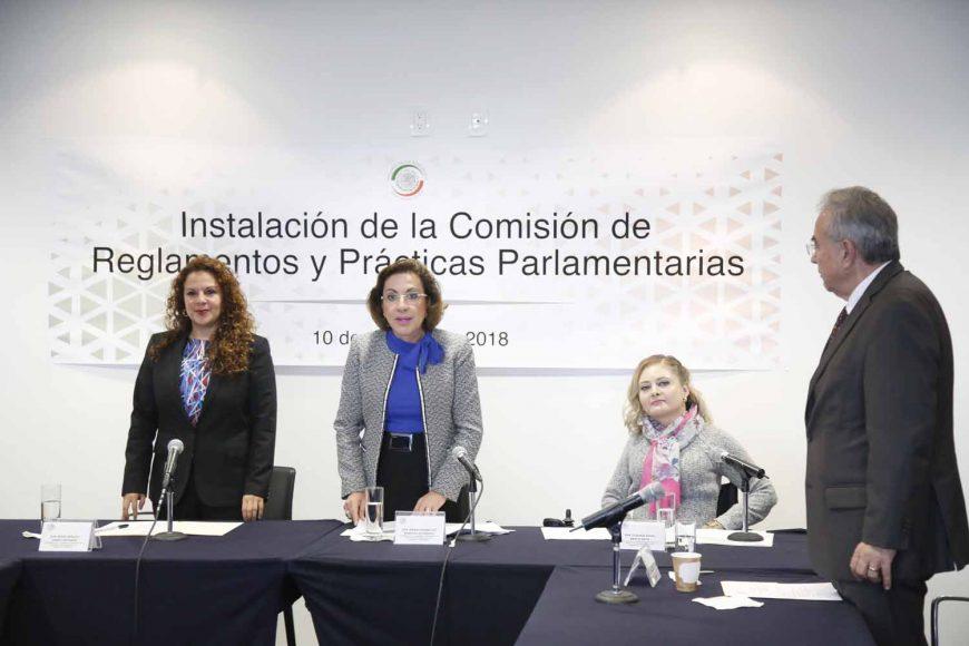Senadora María Guadalupe Murguía Gutiérrez preside la instalación de la Comisión de Reglamentos y Prácticas Parlamentarias