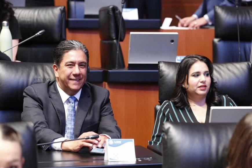 Senadores del PAN, Senador Marco Antonio Gama Basarte, Senadora Mayuli Latifa Martínez, comparecencia, secretario de Gobernación Alfonso Navarrete Prida