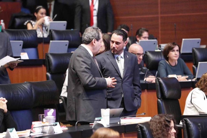 Senadores del PAN, Raúl Paz Alonzo, comparecencia, secretario de Gobernación Alfonso Navarrete Prida