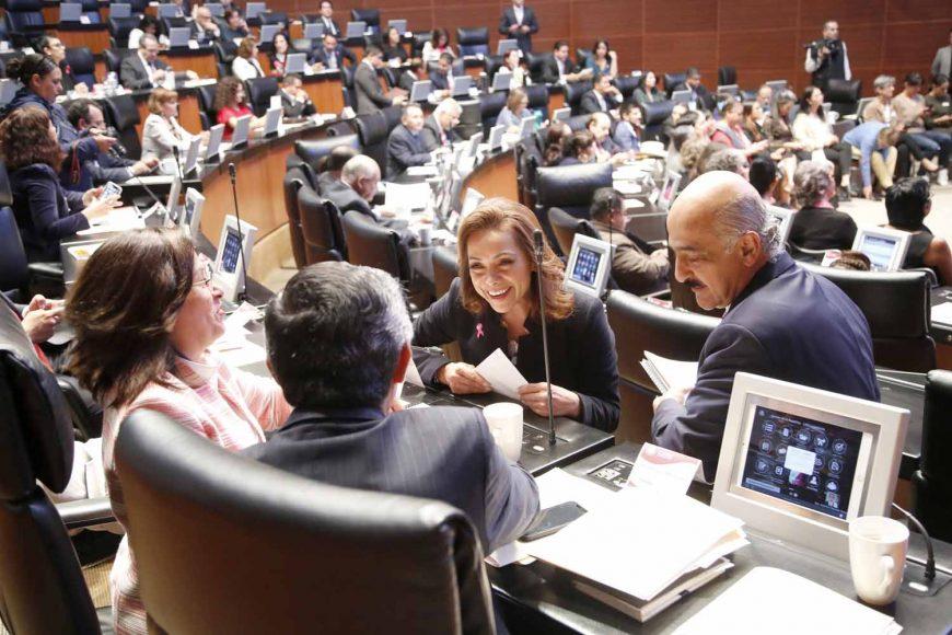 Senadores del PAN, Josefina Vázquez Mota, comparecencia, secretario de Gobernación Alfonso Navarrete Prida