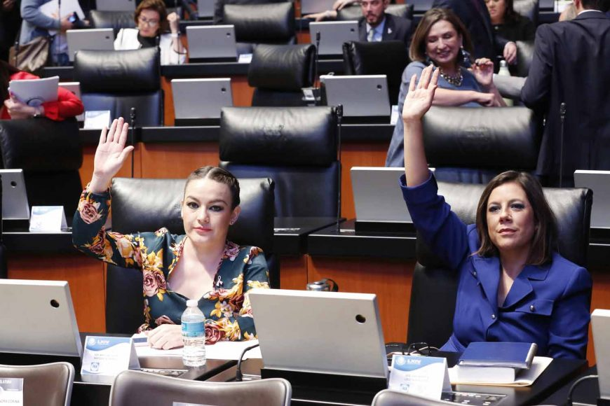 Senadores del PAN, Martha Cecilia Márquez Alvarado, Senadora Gina Andrea Cruz, comparecencia, secretario de Gobernación Alfonso Navarrete Prida