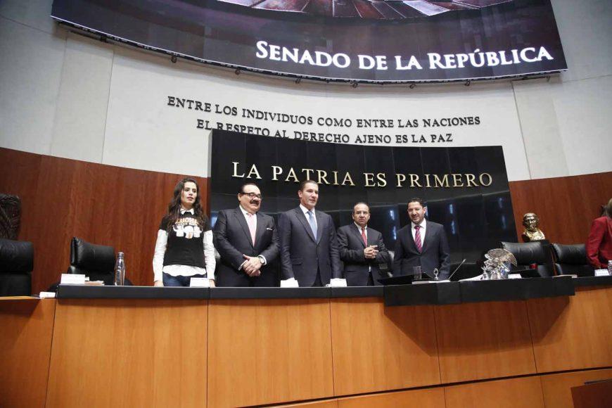 Senadores del Senadora Nadia Navarro Acevedo, durante la comparecencia del secretario de Gobernación, Rafael Moreno Valle Rosas, comparecencia, secretario de Gobernación Alfonso Navarrete Prida