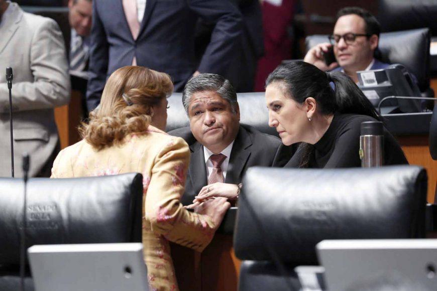 Senadores del PAN durante la sesión ordinaria en la Cámara Alta