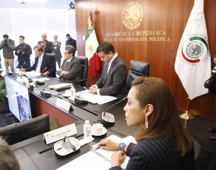 Senadora Josefina Vázquez Mota, durante la la reunión de la Junta de Coordinación Política