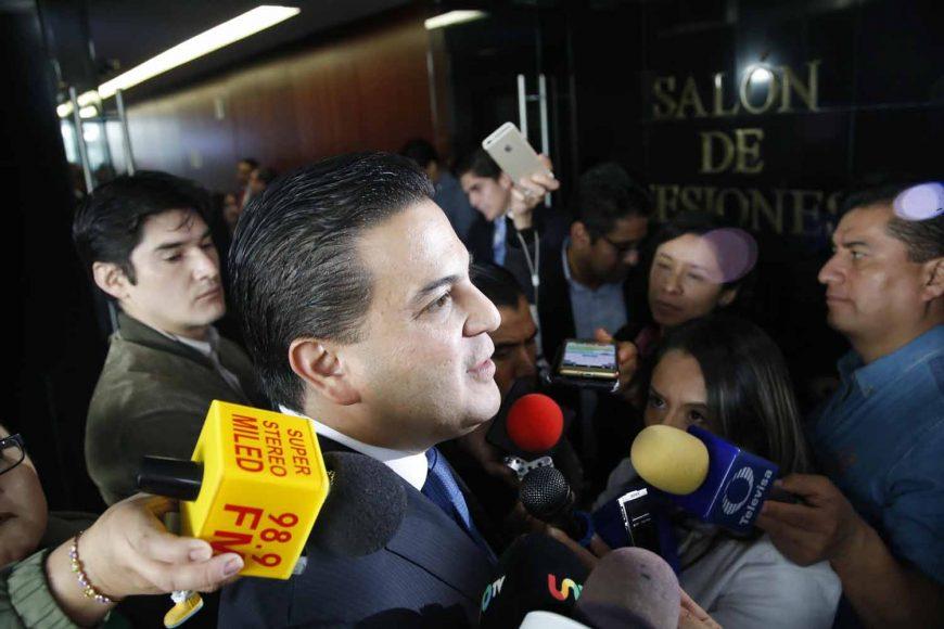Entrevista al coordinador de los senadores del PAN, Damián Zepeda Vidales, durante la sesión ordinaria