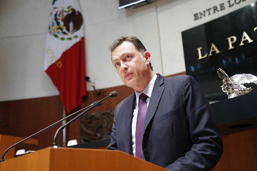 Senador Mauricio Kuri González al presentar iniciativa con proyecto de decreto que adiciona un subinciso V) al inciso b) de la fracción I del artículo 107 de la Ley Federal de Presupuesto y Responsabilidad Hacendar.