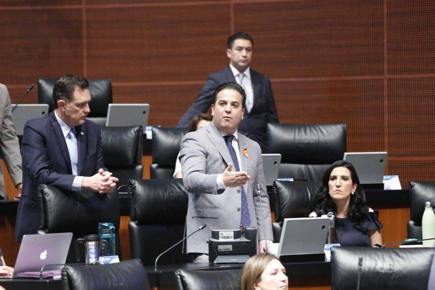 Intervención del coordinador de los senadores del PAN, Damián Zepeda Vidales, para referirse a una iniciativa por la que se adiciona las fracciones IX y X al artículo 35 de la Constitución Política de los Estados Unidos Mexicanos, que tiene por objeto incluir el referéndum y el plebiscito como mecanismos de participación ciudadana