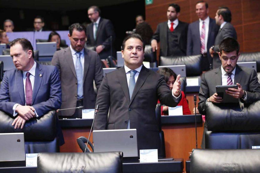 Senador Damián Zepeda Vidales, al intervenir desde su escaño