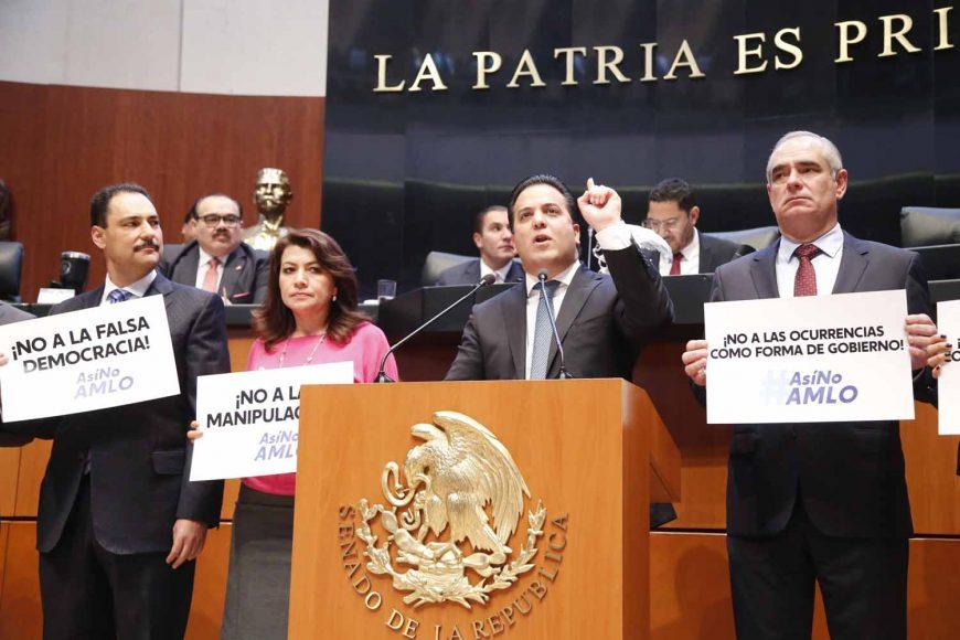 Senador Damián Zepeda Vidales, para referirse a la situación sobre la consulta del nuevo aeropuerto