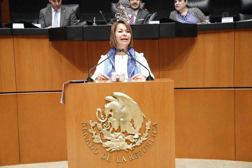 Intervención en tribuna de la senadora Minerva Hernández Ramos al participar en la discusión de un dictamen de las Comisiones Unidas de Hacienda y Crédito Público y de Estudios Legislativos Segunda, el que contiene proyecto de decreto por el que se reforma el artículo 13 de la Ley del Servicio de Administración Tributaria