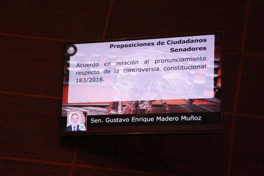 Senador Gustavo Madero Muñoz, al presentar un punto sobre desvío de recursos del estado de Chihuahua