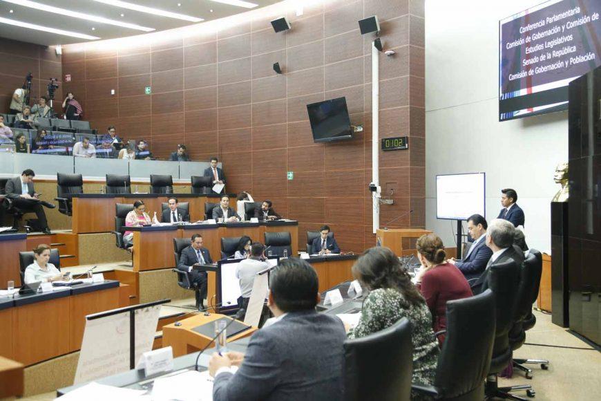Intervención de Damián Zepeda Vidales, coordinador de los senadores del PAN, durante la Conferencia Parlamentaria