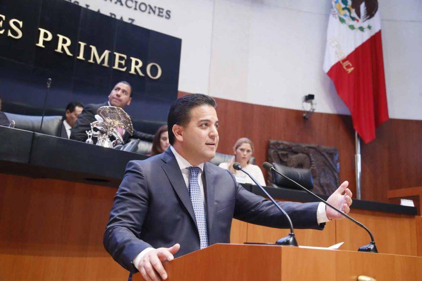Intervención del Coordinador de los senadores del PAN, Damián Zepeda Vidales, al presentar dos iniciativas: en la primera plantea reformas a la Ley Orgánica del Congreso General de los Estados Unidos Mexicanos; y, en la segunda, impulsa modificaciones a la Ley Federal de Presupuesto y Responsabilidad Hacendaria.