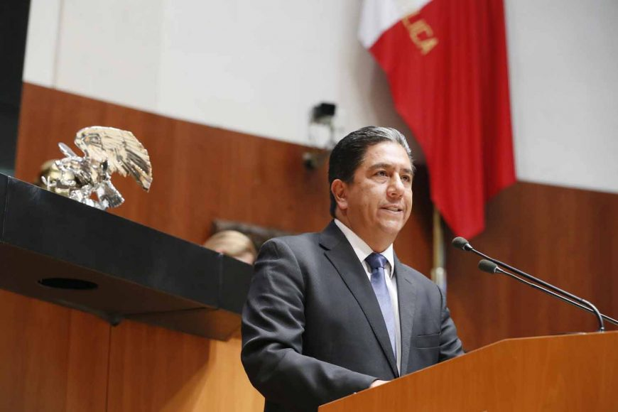 Senadora Marco Antonio Gama Basarte al intervenir en Tribuna