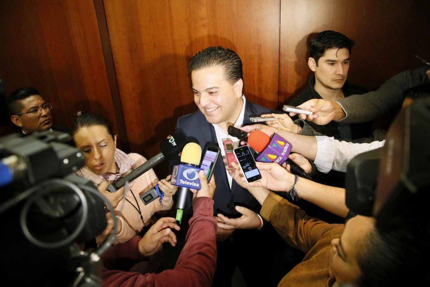 Entrevista ofrecida por el Coordinador de los senadores del PAN, Damián Zepeda Vidales, al término de la reunión de la Junta de Coordinación Política.