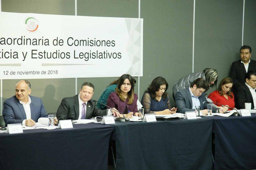 Intervención de la senadora Indira Rosales San Román, en la reunión extraordinaria de las comisiones unidas de Justicia y de Estudios Legislativos