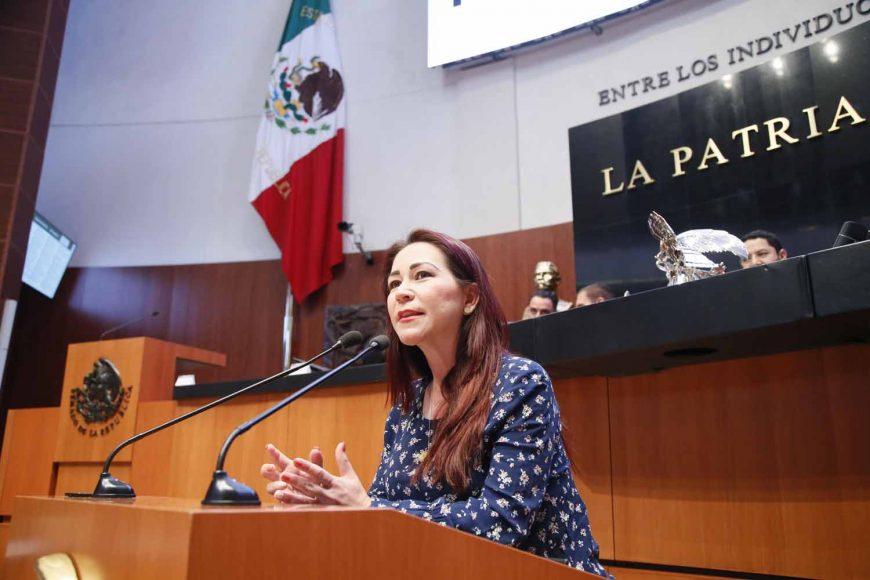 Senadora Gloria Elizabeth Núñez al intervenir en tribuna