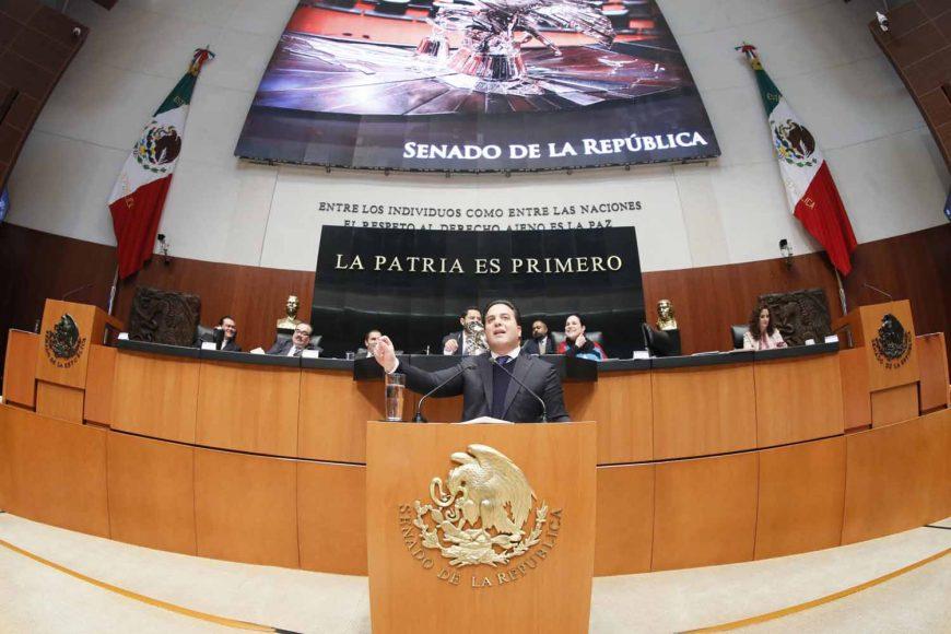 Intervención en tribuna del coordinador de los senadores del PAN, Damián Zepeda Vidales, al presentar el posicionamiento del GPPAN al dictamen de las comisiones Unidas de Justicia y de Estudios Legislativos, el que contiene proyecto de decreto por el que se crea la Ley Orgánica de la Fiscalía General de la República