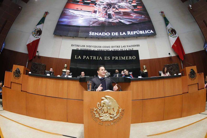 Intervención en tribuna del coordinador de los senadores del PAN, Damián Zepeda Vidales, al presentar el posicionamiento del GPPAN al dictamen de las comisiones Unidas de Justicia y de Estudios Legislativos, el que contiene proyecto de decreto por el que se crea la Ley Orgánica de la Fiscalía General de la República.