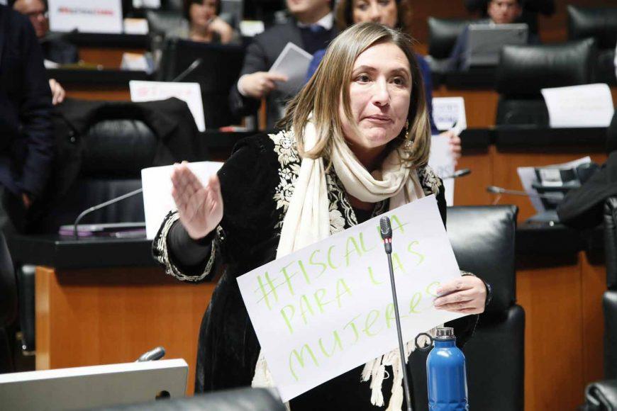 Senadora Xóchitl Gálvez Ruiz al intervenir desde su escaño