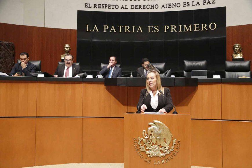 Senadora Alejandra Noemí Reynoso Sánchez, al presentar reserva a los artículos 27 y 31 del dictamen por el que se modifica la Ley Orgánica de la Administración Pública Federal