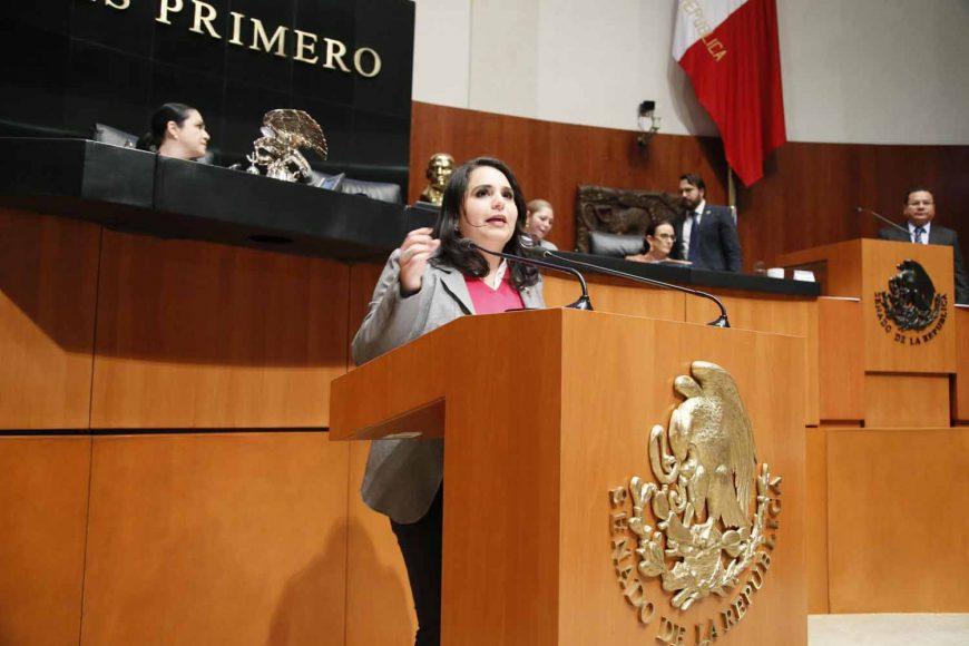 Senadora Mayuli Latifa Martínez Simón al intervenir en Tribuna