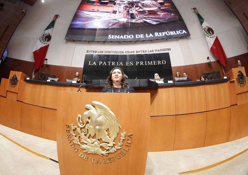 """Intervención de la senadora Nadia Navarro Acevedo, al participar en la discusión de un dictamen de la Comisión Para la Igualdad de Género que exhorta a la Cámara de Diputados a que, en el proceso de análisis, discusión y aprobación del Presupuesto de Egreso de la Federación para 2019, sea considerado un incremento de recursos públicos asignados al Anexo """"Erogaciones para la igualdad entre mujeres y hombres"""", para la construcción y fortalecimiento de los centros de justicia para las mujeres, a cargo de la Comisión Nacional para Prevenir y Erradicar la Violencia contra las Mujeres."""