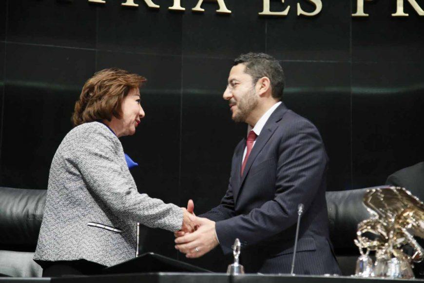 Rinde protesta Guadalupe Murguía Gutiérrez como Vicepresidenta de la Mesa Directiva del Senado de la República