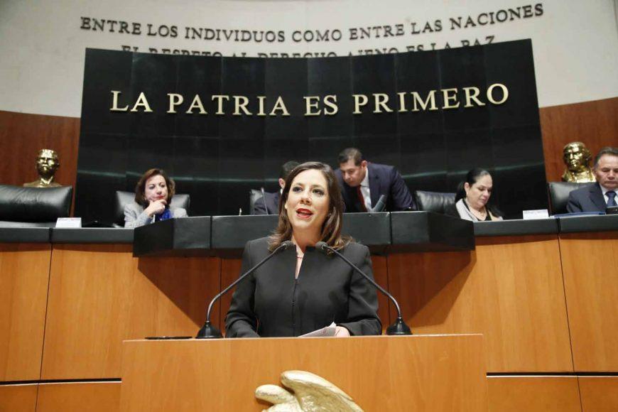 Intervención de la senadora Gina Andrea Cruz Blackledge, al referirse a un punto de acuerdo que exhorta a diversas autoridades y gobiernos a atender con urgencia la problemática derivada de las caravanas migrantes.
