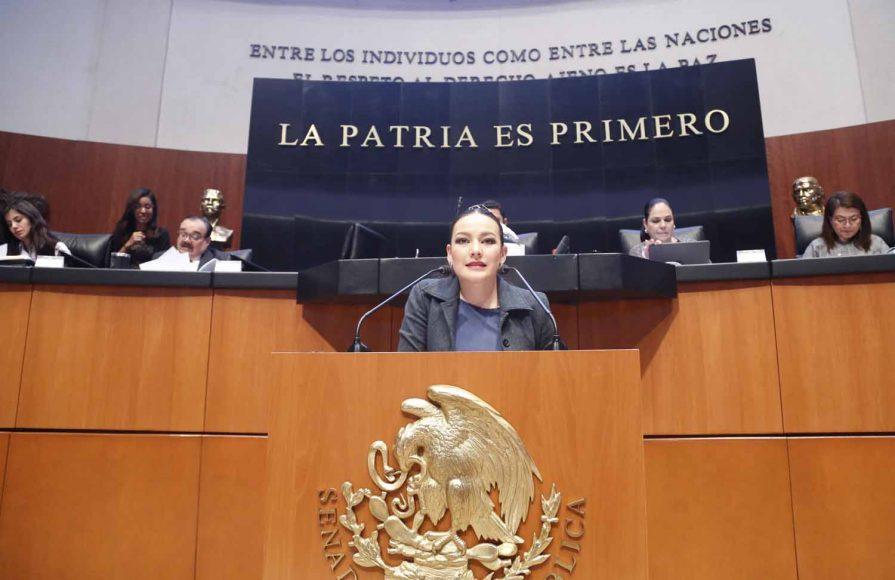 Senadora Martha Cecilia Márquez Alvarado, al participar en la discusión de diversos dictámenes de la Comisión de Anticorrupción, Transparencia y Participación Ciudadana